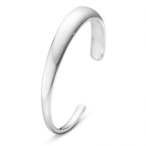 Mestergull Curve armring i sølv small - en perfekt proporsjonert kurve GEORG JENSEN Curve Armring