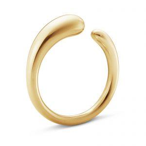 Mestergull Mercy organisk ring i 18kt. gult gull - mini GEORG JENSEN Mercy Ring