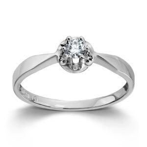 Mestergull Prinsesse er et klassisk enstens design med en elegant blondefatning i gult eller hvitt gull. I serien finnes matchende diamantring, anheng og ørepynt med diamanter i størrelse fra 0,03 ct. til 0,25 ct. PRINSESSE Ring