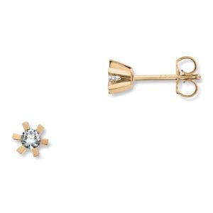 Mestergull Cinderella er en stram og lekker Solitaire modell med matchende diamantring, anheng og ørepynt i gult eller hvitt gull. Velg mellom diamanter i størrelser fra 0,10 ct. til 2,00 ct. CINDERELLA Ørepynt