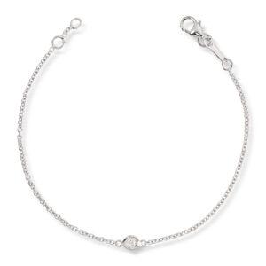 Mestergull Delikat armbånd i hvitt gull med diamant MG DIAMONDS Armbånd
