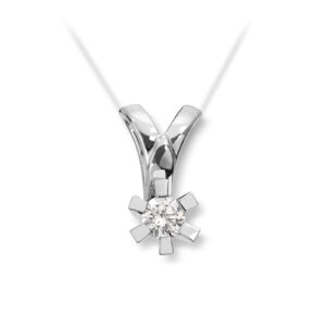 Mestergull Cinderella er en stram og lekker Solitaire modell, velg mellom diamanter i størrelser fra 0,10 ct. til 2,00 ct. CINDERELLA Anheng