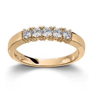 Mestergull Vår Allianse ring har siden 1992 vært en av de mest klassiske diamantringene i landet. Allianse lar deg bygge på med nye stener for hver ny anledning. ALLIANSE Dia. 0,08 ct. Ring