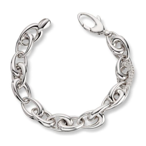 Mestergull Vakkert armbånd i hvitt gull med diamanter MESTERGULL Armbånd