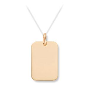 Mestergull Enkelt plateanheng i gult gull for herre med mulighet for gravering MESTERGULL Anheng
