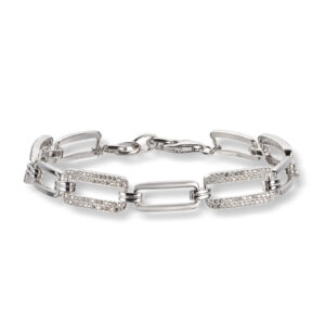 Mestergull Flott armbånd i rhodinert sølv med crystal MESTERGULL Armbånd