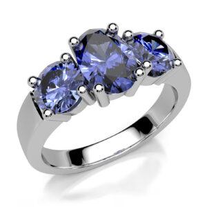 Mestergull Ring basert på designet Allianse utviklet for kunde med gjenbruk av 3 safirer. Ringen er utført i hvitt gull 585. DESIGN STUDIO Spesialdesign Ring