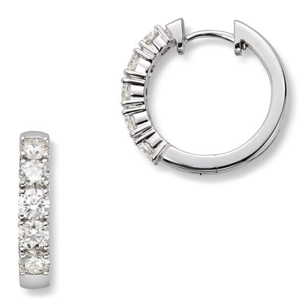 Mestergull Klassiske allianse øreringer i hvitt gull med diamanter ALLIANSE Dia. 0,15 ct. Ørepynt