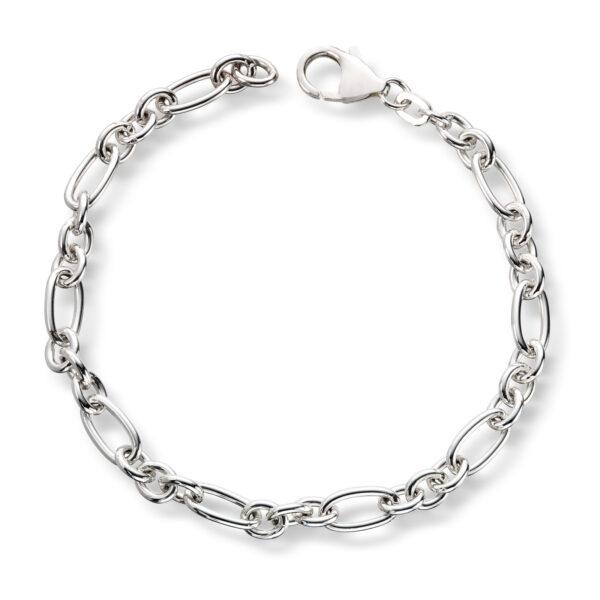 Mestergull Flott armbånd i sølv anker figaro 19 cm MESTERGULL Figaro Armbånd