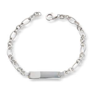 Mestergull Tøft ID-Armbånd i sølv anker figaro 19 cm MESTERGULL Figaro Armbånd