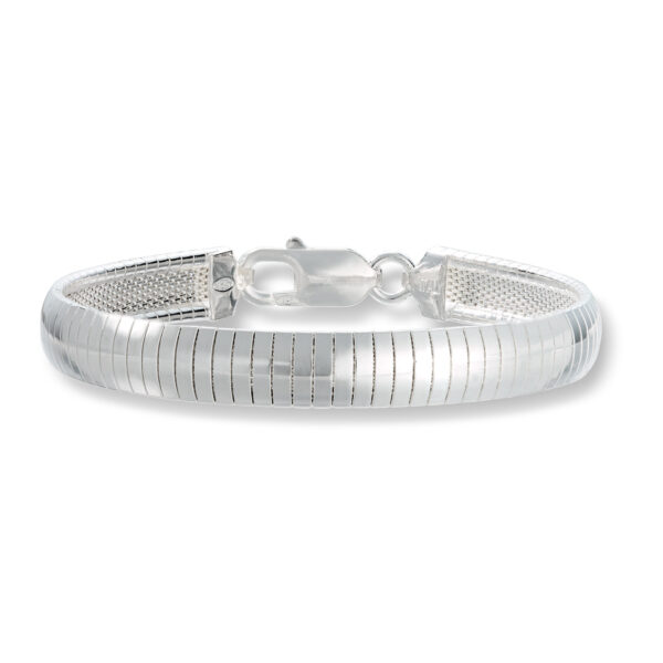 Mestergull Flott omegaarmbånd i sølv - bred MESTERGULL Armbånd