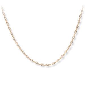 Mestergull Enkelt kjede i forgylt sølv med crystal MESTERGULL Kjede