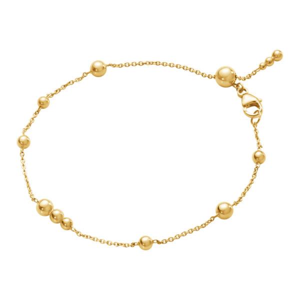 Mestergull Moonlight Grapes armbånd i 18k gult gull GEORG JENSEN Grape Armbånd