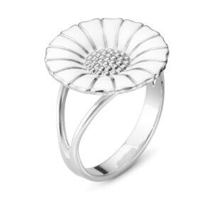 Mestergull Daisy ring i rhodinert sølv GEORG JENSEN Daisy Ring