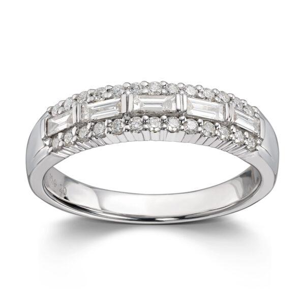 Mestergull Elegant ring i hvitt gull med 31 diamanter totalt 0,53 ct. HSi MG DIAMONDS Ring