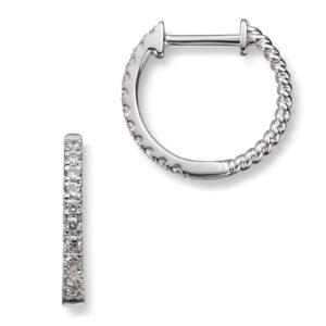 Mestergull Trendy øreringer i hvitt gull med diamanter MG DIAMONDS Ørepynt