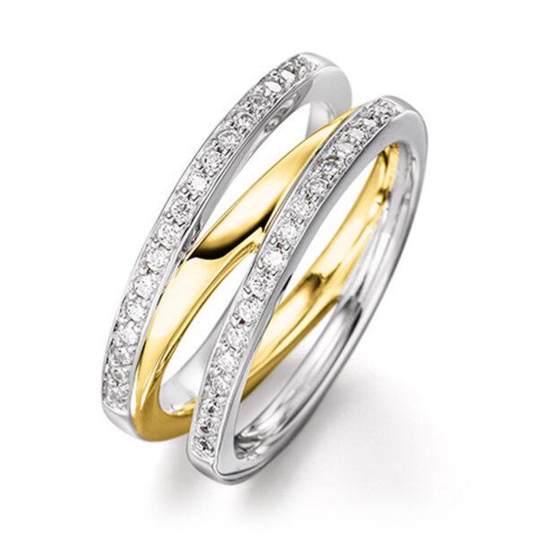Mestergull Lekker ring i rhodinert og forgylt sølv med cubic zirkonia VIVENTY Ring
