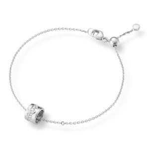 Mestergull Fusion armbånd i hvitt gull med diamanter GEORG JENSEN Fusion Armbånd