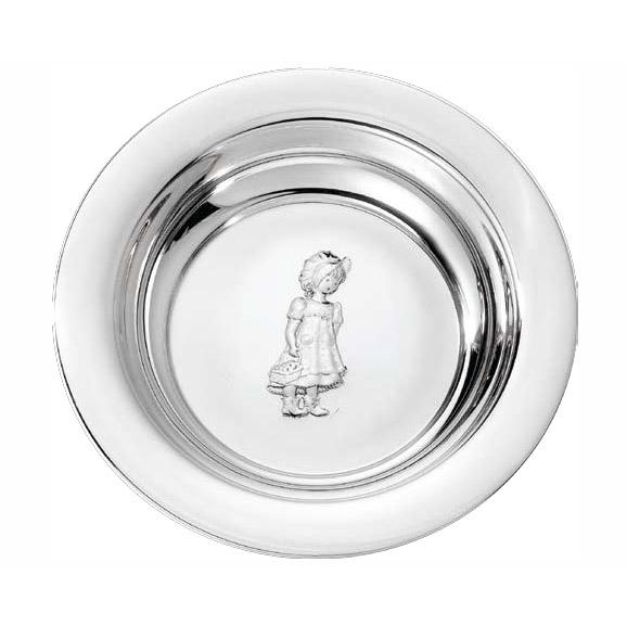 Mestergull Barnetallerken i sølv fra mønsteret Grete GRETE Skål / Tallerken