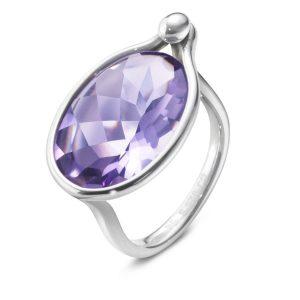 Mestergull Savannah Ring i sølv med amethyst GEORG JENSEN Savannah Ring