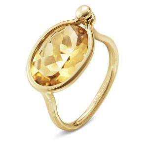 Mestergull Savannah Medium Ring i 18 K Gult Gull med Citrin GEORG JENSEN Savannah Ring