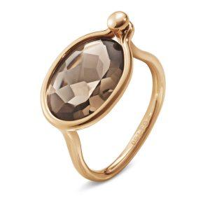 Mestergull Savannah Medium Ring i 18 K Rosé gull med Røkkvarts GEORG JENSEN Savannah Ring