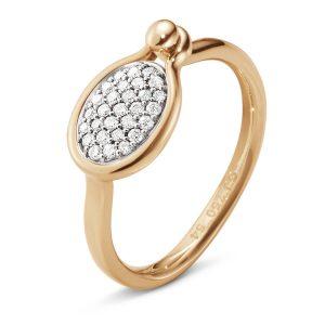 Mestergull Savannah ring Small i 18 K Rosé gull med diamanter GEORG JENSEN Savannah Ring