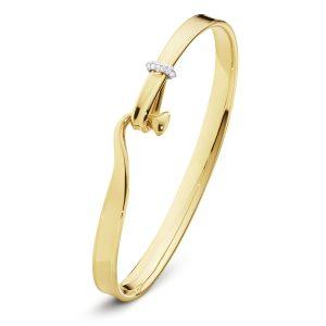 Mestergull Torun Armring i 18 K Gult og hvitt gull med brilliantslipte diamanter GEORG JENSEN Torun Armring