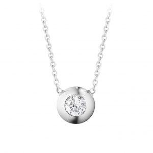 Mestergull Aurora Anheng i 18 K Hvittgull med brilliantslipte diamanter GEORG JENSEN Aurora Anheng