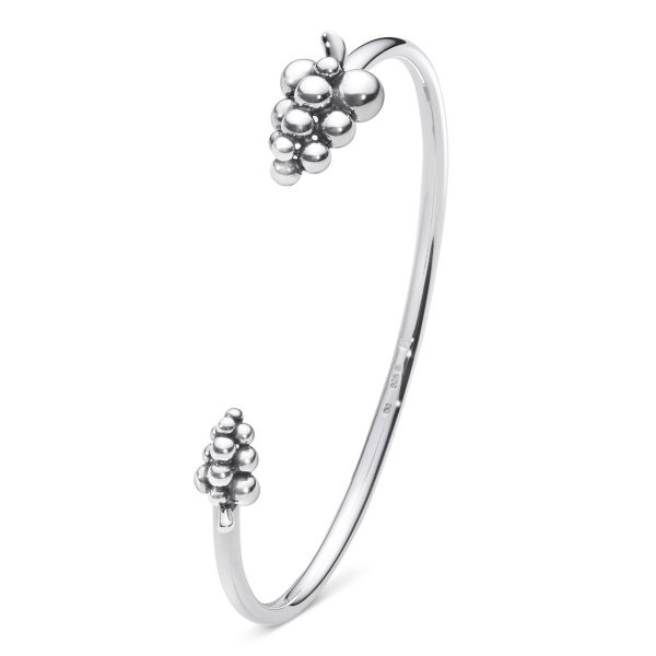 Mestergull Moonlight Grape Armring i Sølv GEORG JENSEN Grape Armring