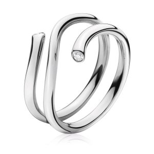 Mestergull Magic Ring i 18 K Hvitt Gull og diamanter GEORG JENSEN Magic Ring