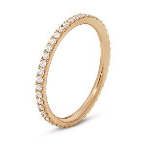 Mestergull Aurora Ring i 18 K Rosé gull med diamanter GEORG JENSEN Aurora Ring