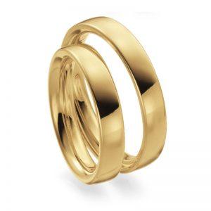 Mestergull Profil 2 er en kraftig modell, buet på oversiden og rund innvendig for god komfort. Her utført i høyglanspolert gult gull. Prisen nedenfor er pr. ring. LYKKERINGENE Eksempel Ring
