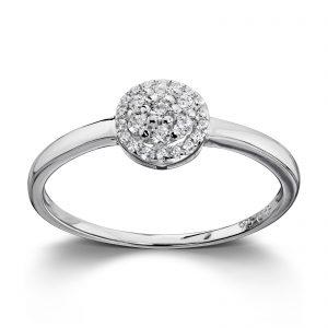 Mestergull Stilren ring i rhodinert sølv med hvite cubic zirkonia GID Ring