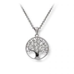Mestergull Flott anheng i rhodinert sølv med cubic zirkonia GID Anheng