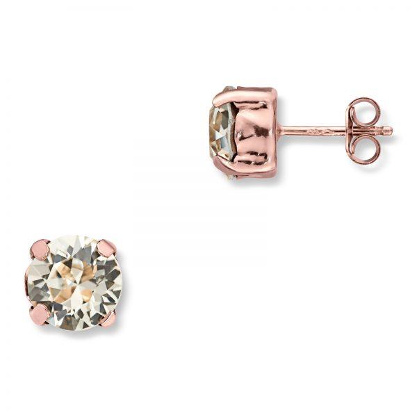 Mestergull Lekker ørepynt i rosèforgylt sølv med champagne swarovski krystaller GID Ørepynt