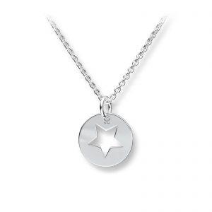 Mestergull Søtt anheng i sølv med stjerne GID Anheng