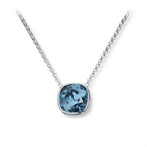 Mestergull Lekkert anheng i rhodinert sølv med blå krystall GID Anheng