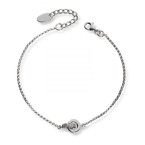 Mestergull Flott armbånd i sølv med cubic zirkonia GID Armbånd
