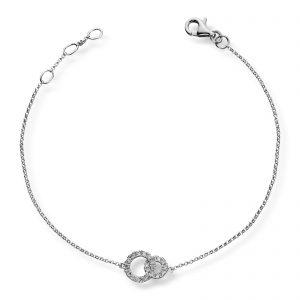 Mestergull Delikat armbånd i hvitt gull med diamanter MG DIAMONDS Armbånd