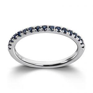 Mestergull Tidløs ring i hvitt gull med safir MG DIAMONDS Ring
