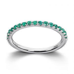 Mestergull Tidløs ring i hvitt gull med smaragd MG DIAMONDS Ring
