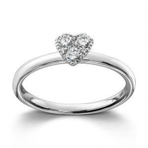 Mestergull Søt ring i hvitt gull med diamanter MG DIAMONDS Ring