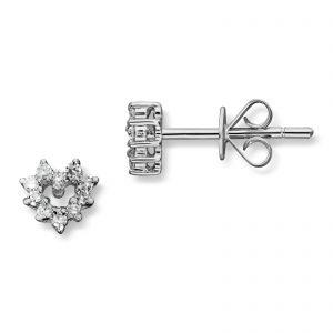 Mestergull Stilren hjerteørepynt i hvitt gull med diamanter MG DIAMONDS Ørepynt
