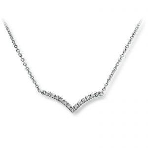 Mestergull Nydelig kjede i hvitt gull med diamanter MG DIAMONDS Kjede