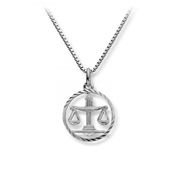 Mestergull Stjernetegn anheng i rhodinert sølv, Vekten MG BASIC Anheng