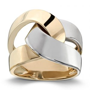 Mestergull Tøff ring i gult og hvitt gull MESTERGULL Ring