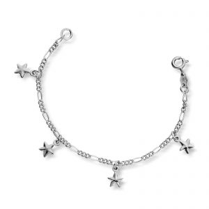 Mestergull Søtt barnearmbånd i sølv med stjerner MG BASIC Armbånd