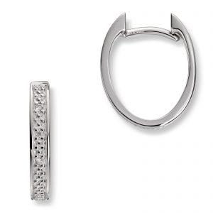 Mestergull Delikate øreringer i hvitt gull med diamanter MG DIAMONDS Ørepynt