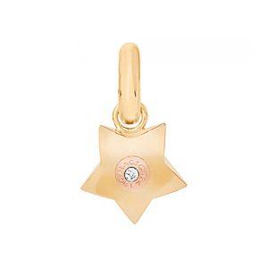 Mestergull Charm Magic Star Sweet Drops i 18 kt. gult gull med blankt. overflate og en diamant 0,01 ct. TwVs LYNGGAARD Sweet Drops Charm